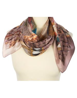 Silk shawl ''World of travel''
