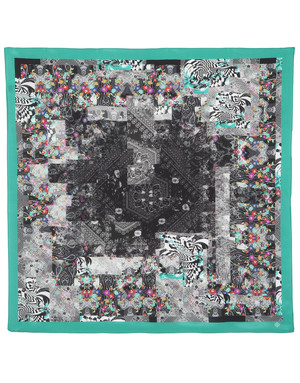 Silk shawl ''Kaleidoscope''
