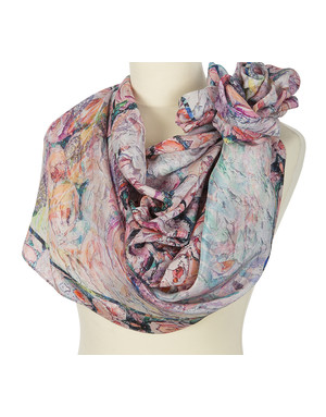 Silk shawl ''A bouquet of roses''