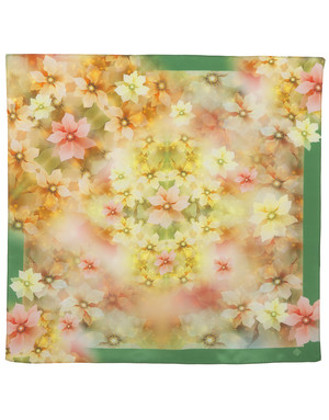 Silk scarf ''Bright flowers''
