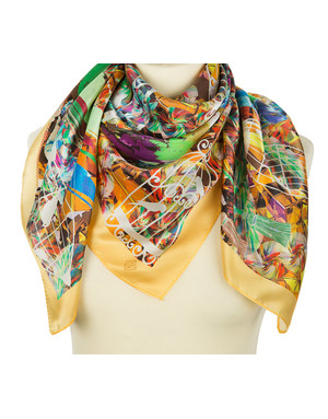 Silk shawl ''Bright Birds''