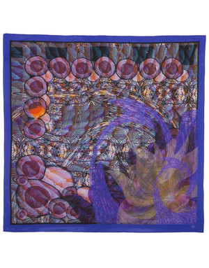 Silk shawl ''Peacock fantasy''