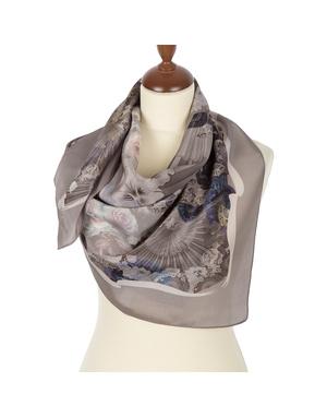 Silk shawl ''Oriental fans''