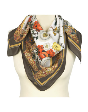 Silk shawl ''Wildflowers''