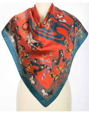 Silk shawl ''Orient motive''