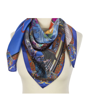 Silk shawl ''The city''