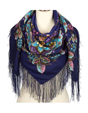 Wool shawl ''Ural Storie''