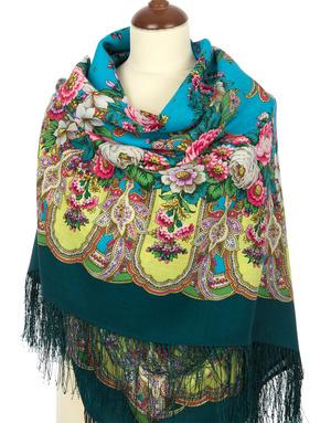 Wool shawl ''Lukomorye''