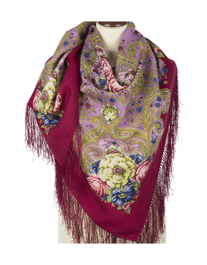 Wool shawl ''Dreams of happiness''