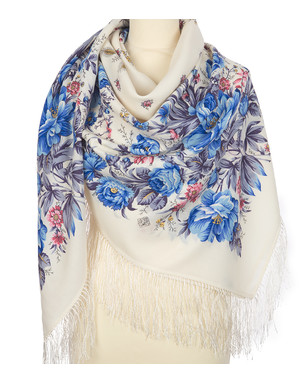 Wool shawl ''Morning garden''