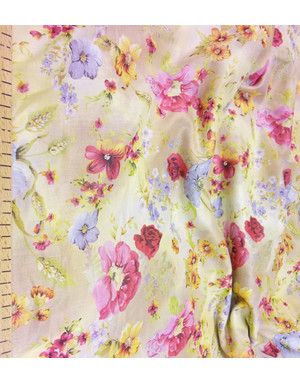 {[en]:Floral fabric by the yard Field Flowers}