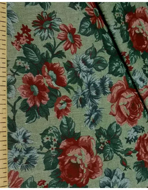 Russian linen fabric by the yard  ''A bouquet of flowers ''