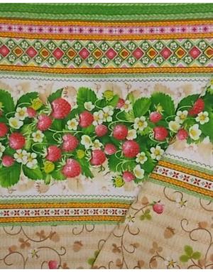 {[en]:Ukrainian embroidery fabric Wild strawberry}