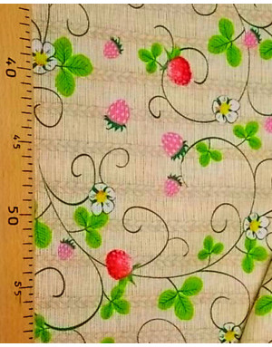 Ukrainian embroidery fabric ''Wild strawberry''