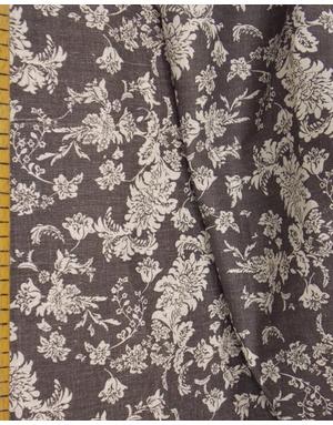 {[en]:Russian linen fabric by the yard Night flowers}