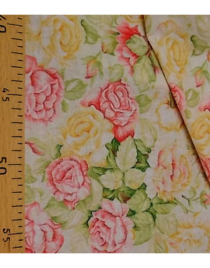 {[en]:Russian pattern cotton fabric The Sun rose}