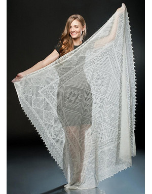 Russian lace shawl ''Tenderness''
