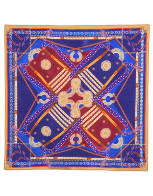 Silk shawl ''Braid patterns''
