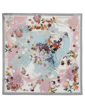 Silk shawl ''Flower mix''