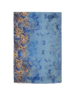Shawl Wrap ''Blue butterfly''