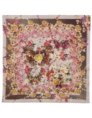 Silk shawl ''Flower fantasy''