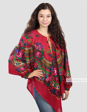 floral poncho