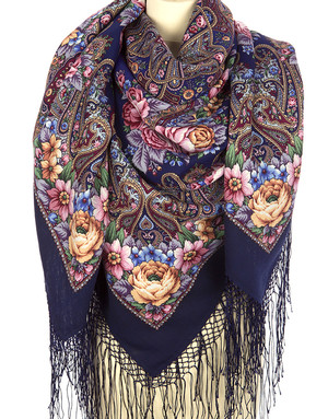Wool shawl ''Linger, beautiful Illusions''