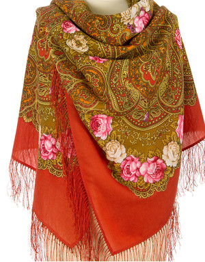 Wool shawl ''Summer Triumph''