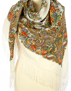 Wool shawl ''Lyre''