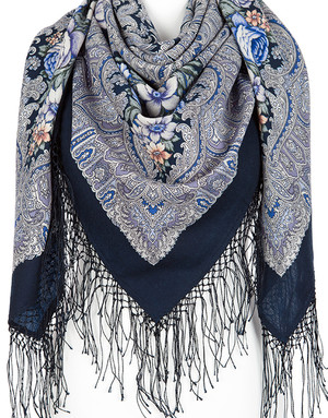 Wool shawl 'Enchantress Winter''