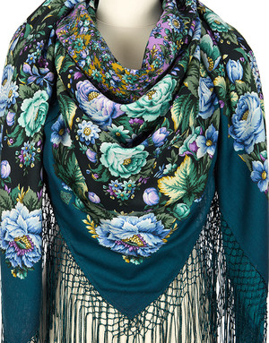 Wool shawl ''Marvelous Miracle''