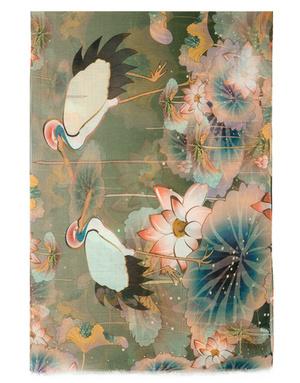 Shawl Wrap ''Cranes''