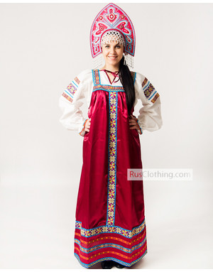 What kind of clothing do Russian people wear?