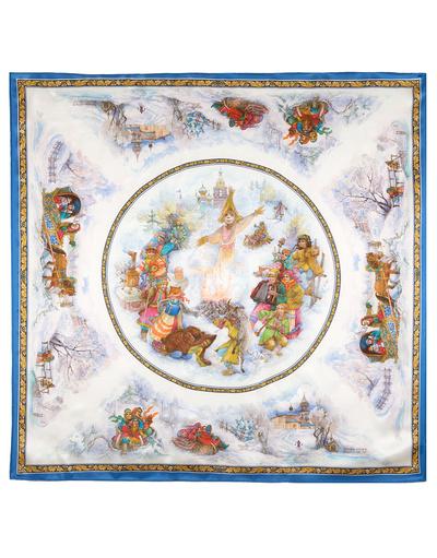 Châle et foulard russe en soie ''Cheerful Maslenitsa''