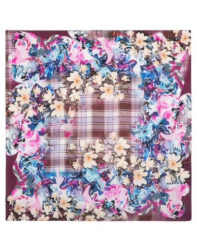 Silk shawl ''Spring in Scotland''