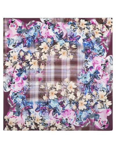 Châle et foulard russe en soie ''Spring in Scotland''