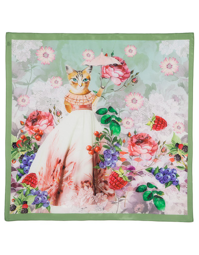Silk shawl ''Mademeowselle''