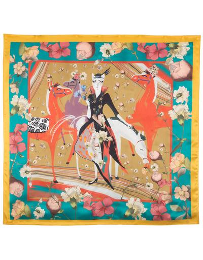 Silk shawl ''Equestrienne''