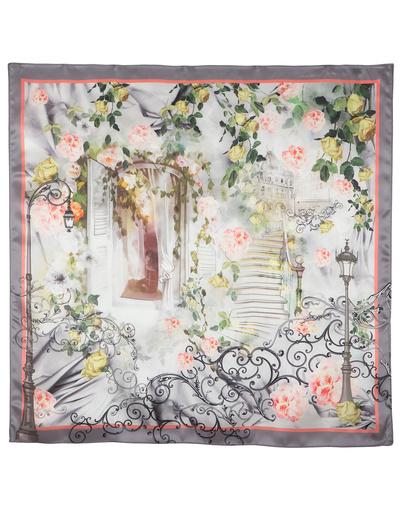 Châle en soie ''Rose Garden''