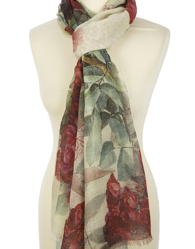 Shawl Wrap ''Bouquet of roses''