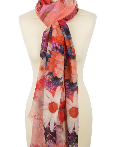 Shawl Wrap ''Daisies and gladioli''