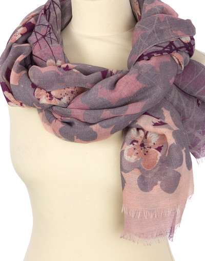 Shawl Wrap ''Rose Shadows''