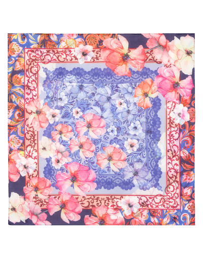Cotton head scarf ''Floral tracery''