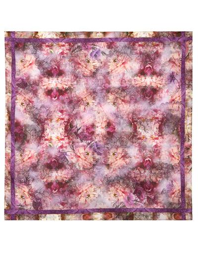 Foulard en coton ''Purple Morning''