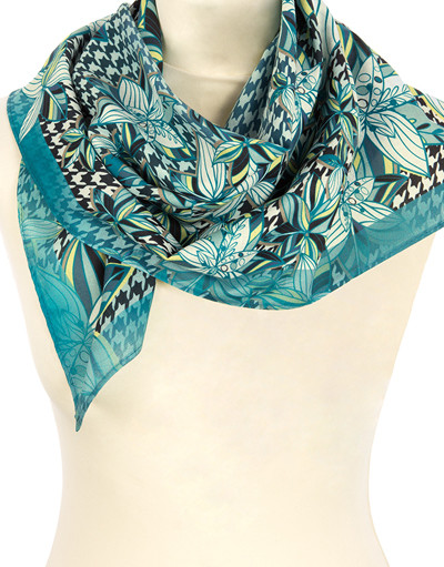 Cotton head scarf ''Fresh morning''