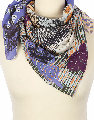 Foulard en coton ''Travel motives''