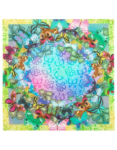 Foulard en coton ''Bright Butterflies''