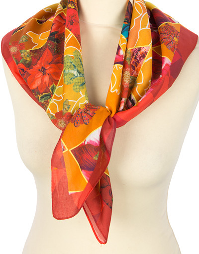 Cotton head scarf ''Abstraction''