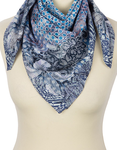 Cotton head scarf ''Mosaic''