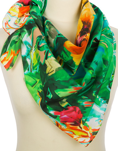 Foulard en coton ''Jungle Flowers''